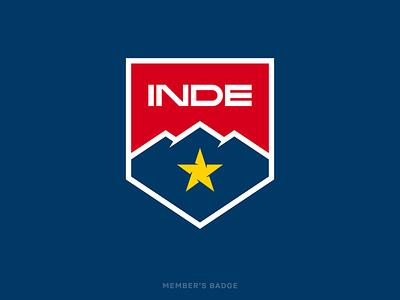 INDE - Member's Badge crest motorsports racing arizona star mountains branding logo badge inde