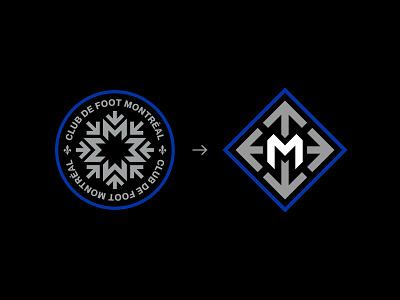 CF Montreal - Proposed Design montreal proposal football club metro arrows m logo mls soccer cf impact