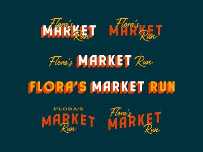 Flora's Market Run restaurant grocery market floras arizona logo family logo branding custom type tucson