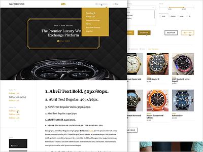 Luxury Watch Exchange Platform luxury watch ui