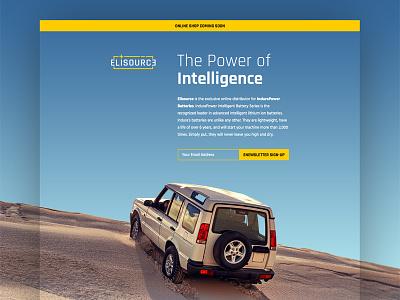 Promotional Landing Page auto smart technology battery