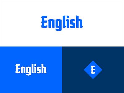 English wordmark custom type english logo