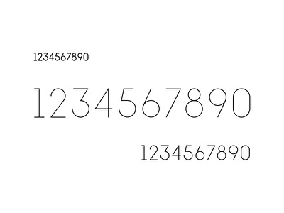 1234567890 custom type numerals numbers