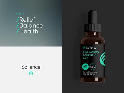 Salience logo packaging tincture cannabis cbd salience