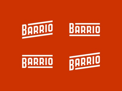 Barrio wordmark typography custom type barrio