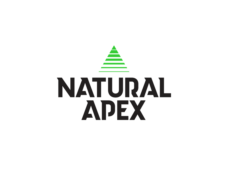 Natural Apex branding apex fade triangle sports brand cbd hemp logo athletics