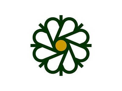 August Rhodes Market Flower branding icon logo flower market rhodes august