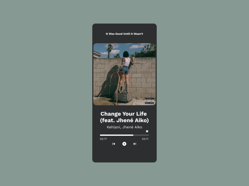 DailyUI #009 — Music Player music album music player ui music player app music art music player music app spotify dailyui 009 009 music mobile ui mobile design mobile app app design dailyuichallenge daily ui dailyui daily 100 challenge
