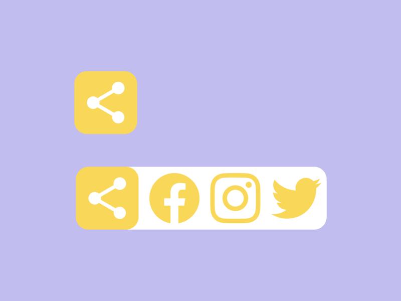 DailyUI #010 — Social Share app simple twitter instagram facebook 010 dailyui 010 social share socialshare social media design dailyuichallenge daily ui dailyui daily 100 challenge