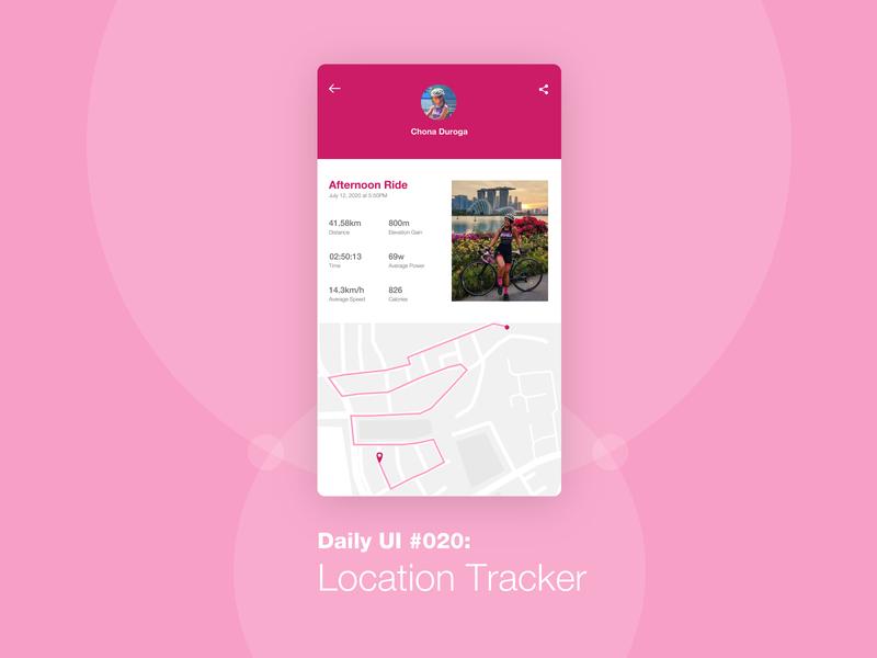 Daily UI #020: Location Tracker app happy learning learning is fun dailyuichallenge uiux location tracker uidesign design challenge daily challenge 100 days of ui dailyui
