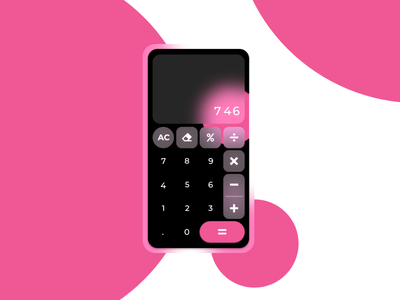 Daily Ui #04 - Calculator 004 calculator ui minimal glassmorphism app interface dailyui dailyuichallenge creative design education