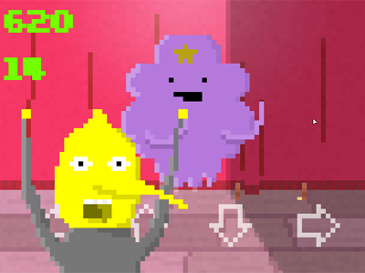 GAMEMAKINGFRENZY screenshot game jam adventure time 8bit videogame lumpy space princess