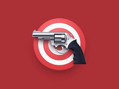 Shooter Game Icon target red gun icon game shooter