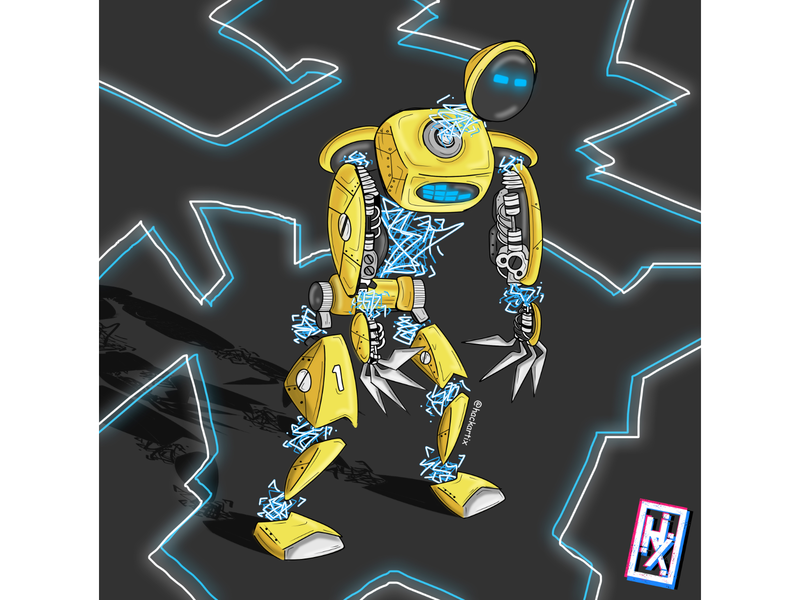 My Robot 0004 vectorart robotics retro bitmap robot transformers terminator machine art illustration robot illustration horizon cyberpunk concept art cartoon illustration cartoon artwork
