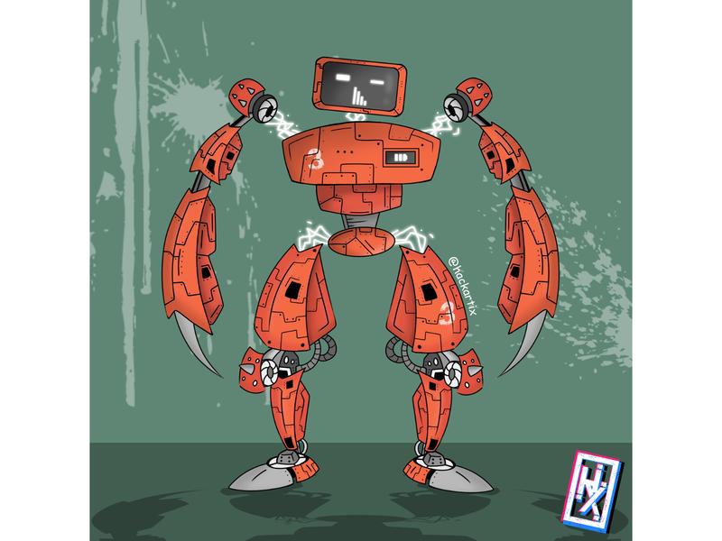 My Robot 0006 vectorart robotics retro transformers terminator machine art bitmap robot robot illustration horizon cyberpunk concept art cartoon illustration cartoon artwork