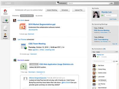 Cisco WebEx Meet wireframe interaction navigation webex social feed virtual meeting