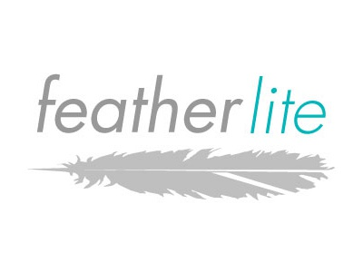 feather lite  feather lite tent pole logo identity illustration brand