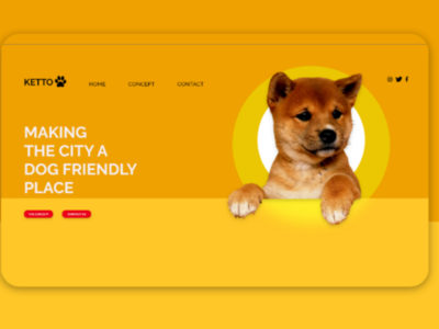 Pet shop website landing page