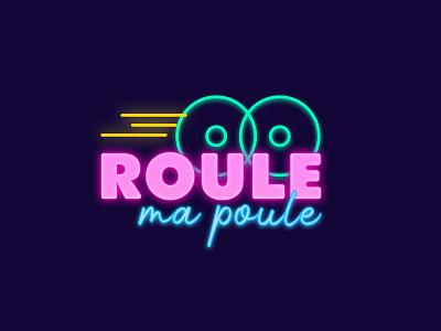 Roller 😎 minimal icon illustration design vector vintage eighties typogaphy neon colors branding light neon logo
