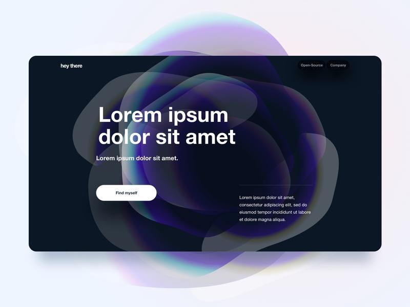 Trying something 🧐 Part 1. app dark helvetica landingpage flower design minimalistic gradient typography website ui ux