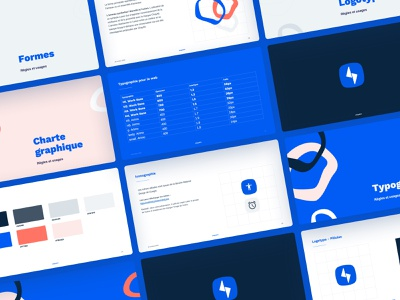 Thunder ⚡️ website illustration font colors palette colors iconography powerpoint presentation design vector logo typography branding
