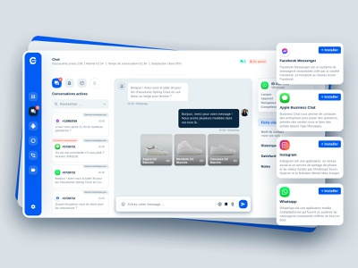 Chat Interface 🐈 conversation shop product google apple messenger instagram whatsapp facebook backoffice cms livechat chatbot chatting website ux chat app branding ui chat