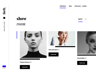 Fashion Website woman website typography typo model luxury illustration fashion faces black beautiful 2017