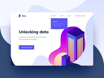 Real Estate 🏬 drawing flat website ux ui sun realestate purple illustration building branding 3d