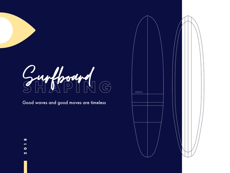 Surfboard shaping 🏄🏼‍♀️ minimal vector logo surfing product design illustration typography branding shapes architecture pattern surface design surfboard