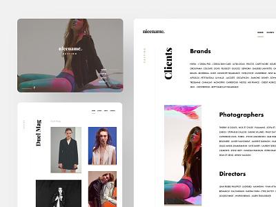 Casting 🙃 portfolio people flat ux ui brands art direction art black woman production photography minimalistic website branding