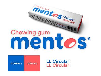 Fictive Rebrand Mentos redesign concept mentos flat typography design logo branding
