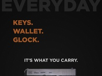 Keys, Wallet, Glock