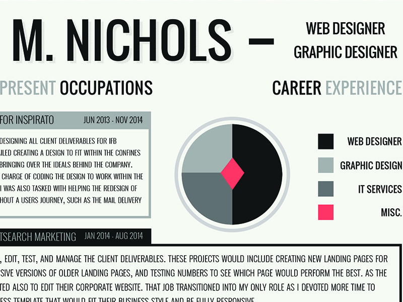 Resume Design Work infographics flat typography job hunt graphic design cv design resume