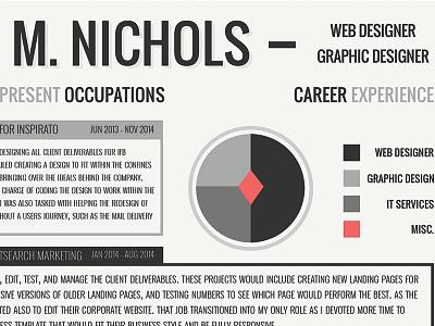 Resume Design Work infographics flat typography job hunt graphic design cv design resume