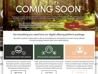 Time for Signups! flat web application investment real estate responsive coming soon