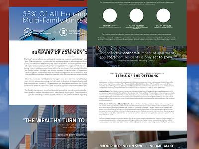 Investor Relations App - Offering Website slider dashboard flat design flat ui application web application investor relations investor