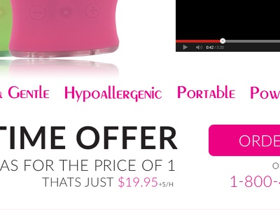 Limited Time Offer specials landing page product as seen on tv