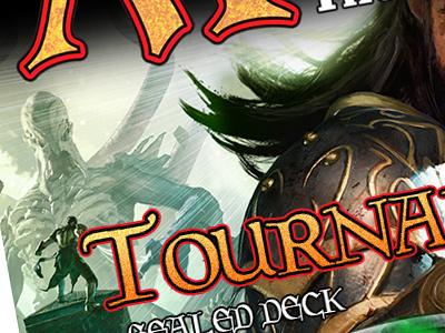 MtG Tournament Ad paper magazing advertising print work trading cards magic magic the gathering
