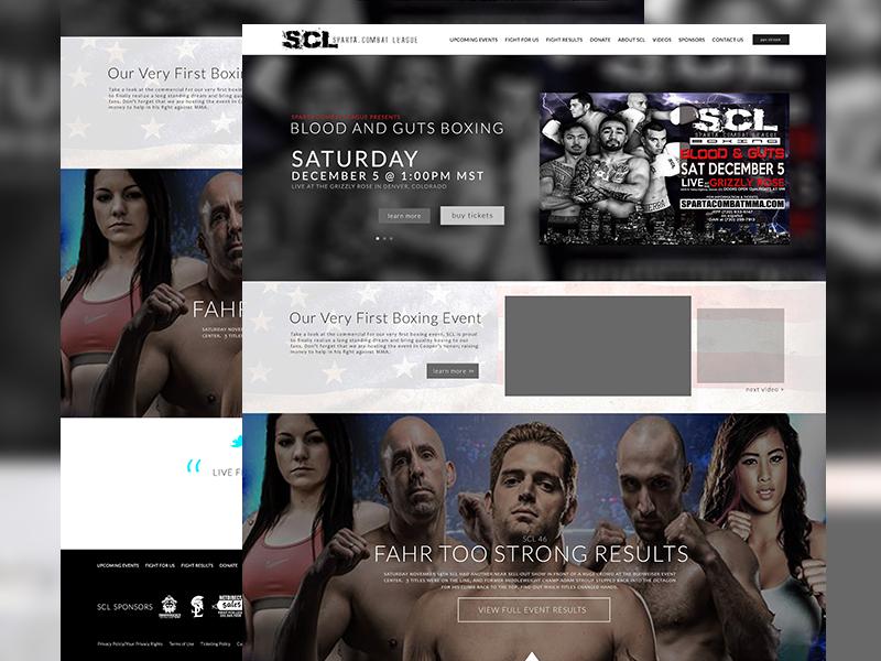 Sparta Combat League Website mma website promotion website boxing scl sparta combat league mma