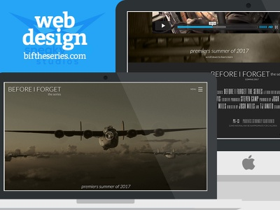 Before I Forget - Series Website responsive ww2 wwii world war 2 war web design movies