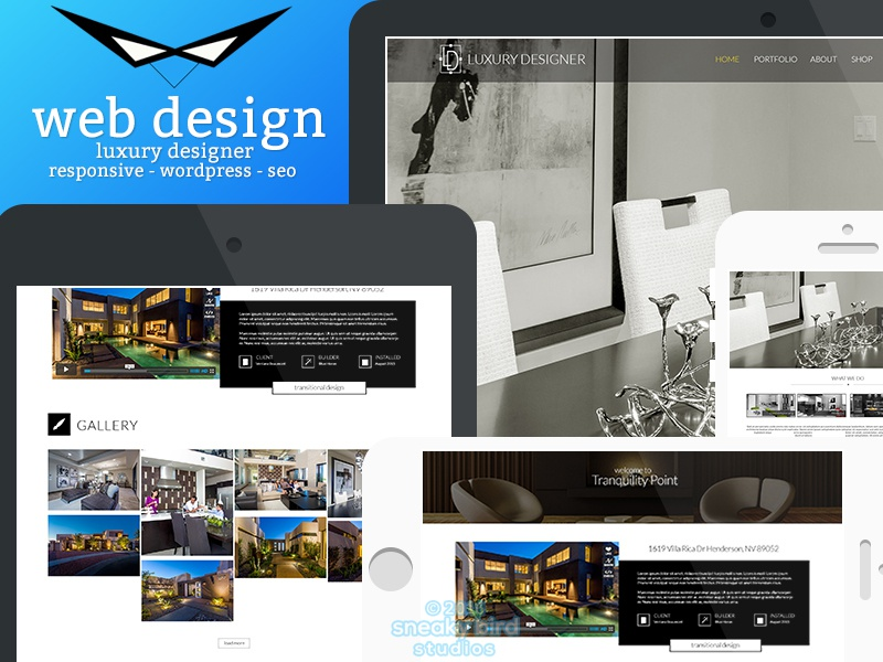 Luxury Designer Website - In Progress luxurious designs luxury wordpress web design design interior design