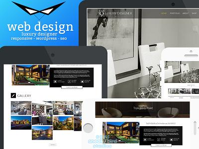 Luxury Designer Website - In Progress luxurious designs luxury wordpress web design design interior design