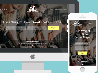 Exercise Video Library - Landing Page fitness fitness landing page conversions subscription service weight loss websites web design landing page exercise