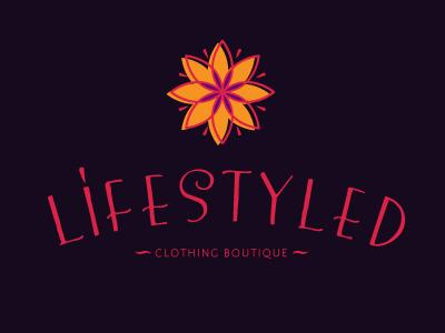 Lifestyled-clothing boutique logo boutique fashion flower clothing women