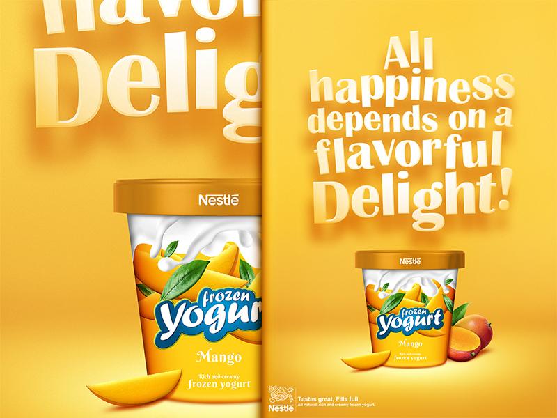 Nestle Frozen Fruit Yogurt frozen fruit yoghurt dessert sweet fresh refreshing