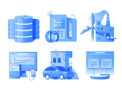 Icon set web vector ux ui simple mobile minimal illustration icons iconography gradient clean