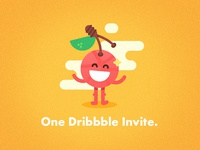Only ONE Dribbble invite 🍒