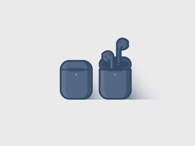 Airpods watch icon minimal mobile web vector phone headphones apple charge illustration wireless