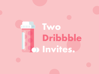 2x Dribbble Invites ✌️ pink pill dribbble invite invitation player ticket debut icon giveaway invites vector