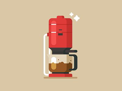 Coffee Machine braun machine coffee bottle icon web vector illustration minimal